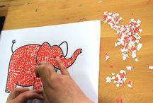Torn paper crafts