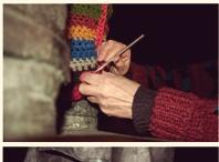street art - yarn bombing in action