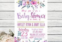 Baby Girl Shower / Boho, floral, Pink and lots of gold glitter! ✨