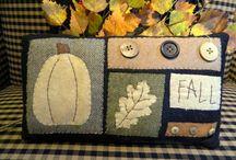 Appliqué Woolly Fall