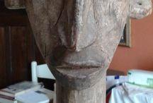 ANTIQUE AFRICAN STATUE ANCESTOR BAMANA BAMBARA MALI