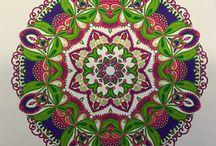 Mandala kleuren / Zelf gekleurde mandala 's