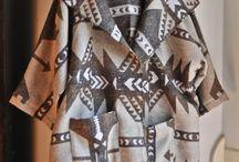 Wool Southwest Coat in Brown Aztek Print - Folksie