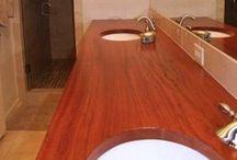Custom Wood Bathroom Vanity Tops