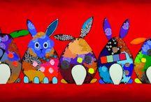 Gekleurde konijntjes