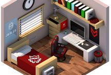Bedroom Isometric