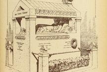 Oude grafzerken en hun details / St-Pieters kerkhof te brugge