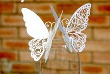 marque place papillon,carte de verre,porte noms,decoration mariage