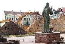 plac budowy w centrum miasta