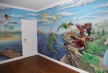 Children's room / Artystyczne malowanie pokoi dziecięcych., malowanie w pokojach dziecięcych, malowanie rysunków na ścianach dla dzieci, pokoje dziecięce, jak pomalować pokój dziecka? Zapraszam do strony: http://mojegaleria.blogspot.com/p/pokoj-dzieciecy.html
