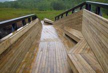 drevene lavky/mosty