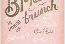 Bridal shower / Ideas for bridal showers and teas