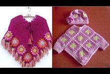 crochet ponchos niña
