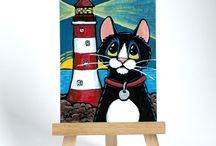 ACEO Art Cards & Small Format Art by Lisa Marie Robinson / ACEO art cards and other small format art & illustrations. I try to paint at least one new thing everyday if I can. I love to paint cats and other animals, especially dogs, bears, mice, and owls!