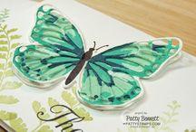 Stamping Club: October / Watercolor wings