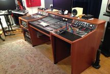 SSL Matrix Custom Desks / Custom Studio Desk with built in SSL Matrix  Console