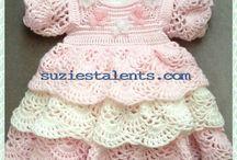 Tricô e Croché - Bebé e Criança - Vestidos