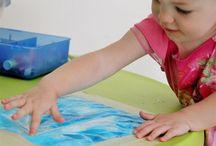 Taaperot: maalausideoita / Pienille lapsille sopivia maalausideoita.  Toddler painting ideas