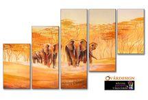 Afrikai hangulatban / Az afrikai táj szépségét, az ősi törzsek kúltúráját elevenítheted meg otthonod falain modern, kézzel festett vászonképekkel.