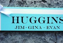 Custom Last Name/ Family Name Signs / by Our Hobby To Your Home & Wedding