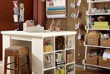 Craft/art studio ideas / by Ann Leiboh