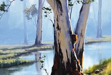 Paintings Trees and Landscapes
