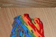 вязание. шарфик