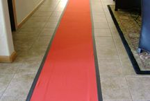 Aisle Runner / Our red aisle runner is ready to be rolled out for your next event. We also have white runners. www.rentjp.com