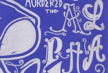 Murdered The Alphabet / I Just Murdered The Alphabet is a hand drawings series by the artist Mega, with inspiring hip hop punchlines / quotes and characters from La Société Des Griffeurs.