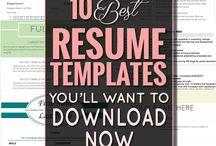 Resumes templates