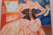 Impressionisme! / Eigen gemaakte acrylschilderijen!