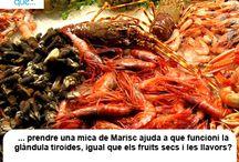 Mariscs / Mariscos / Aquí trobaràs curiositats sobre el marisc / Aquí encontrarás curiosidades sobre el marisco