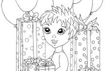 Kleurplaten Kleine Personen. / Kleurplaten met kinderen. / by Pamich