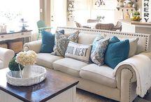 livingroom colour blue