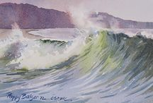 water - the focus in these water color paintings / by Mary Mac