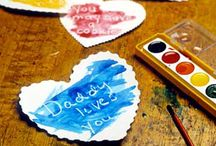 DIY Valentine's Day / Valentine's Day crafts and art projects, for babies-toddlers-kids, too. Great for Mother's and Father's Day!