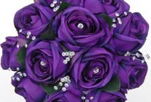 Cadbury Purple Delight Mood Board / Purple wedding theme from Sarah's flowers www.sarahsflowers.co.uk