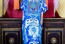 Long Silk Kaftan Dress