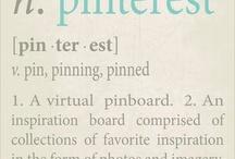 Words - Pinterest Meta / I pin, therefor, I am / by Nysha Key
