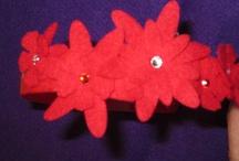 Flores, Mariposas y Corazones FELT / Diademas, broches, anillos, colgantes... todo artesanal !!! Elige color y forma...