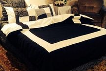 Black and white bedsheets, great idea for your bedroom!