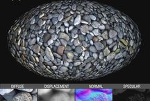GRAVEL & PEBBLES textures semaless / royalty free professional pebbles and gravel seamless textures for architectural 3d visualization and all CG artist