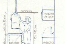 Para Áreas de Serviço | Dimensões e Layouts