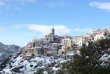 Colledimezzo / Abruzzo town - italy, landscapes and  real italian life
