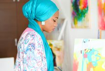 Amira Rahim / versatile painter who works with acrylics and mixed media. Playing with colour and texture on paper and canvas. Expressing her creativity through vibrant colours