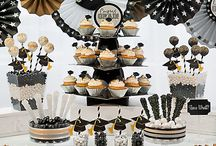 Gold and Black Hollywood Graduation Party Ideas