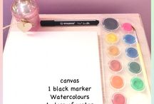 Watercolor drawing / New diy drawing for beginners!