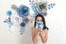 flores #papel# Boda