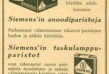 Vanhoja mainoksia