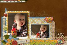 Scrapbooking pages / Brothers scan & cut / by Sissy Hill